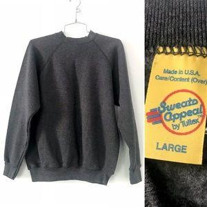 Vintage 1980's sweatshirt Charcoal grey tultex